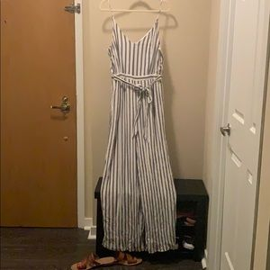 American eagle Wide leg striped jumpsuit
